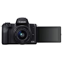 Canon EOS M50 Mirrorless Camera With EF-M 15-45mm IS STM Lens - Black Thumbnail Image 8